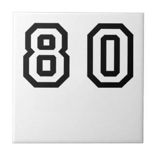 Number Eighty Ceramic Tile