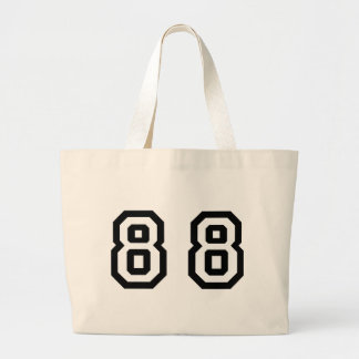 Number Eighty Eight Large Tote Bag
