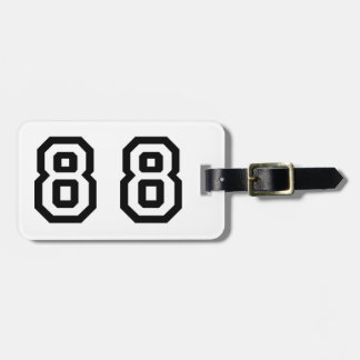 Number Eighty Eight Luggage Tag