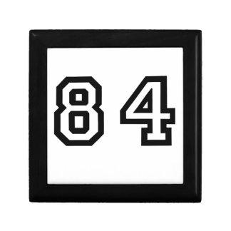 Number Eighty Four Keepsake Box