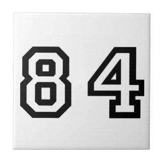 Number Eighty Four Tile