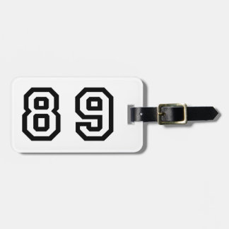 Number Eighty Nine Luggage Tag