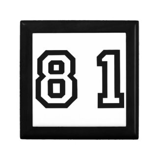 Number Eighty One Keepsake Box