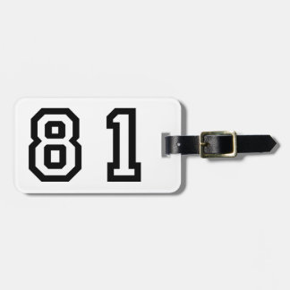 Number Eighty One Luggage Tag