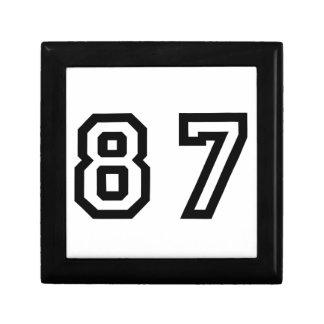 Number Eighty Seven Keepsake Box