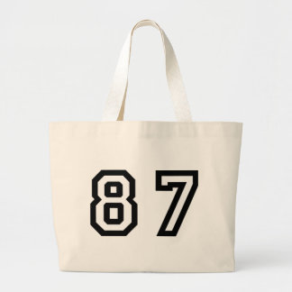 Number Eighty Seven Large Tote Bag