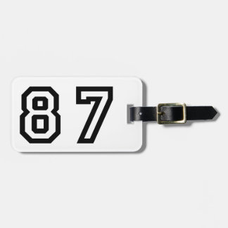 Number Eighty Seven Luggage Tag