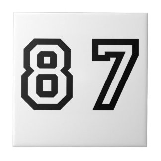 Number Eighty Seven Tile
