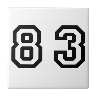 Number Eighty Three Tile