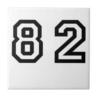Number Eighty Two Ceramic Tile