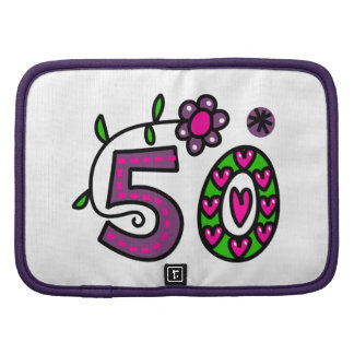 Number Fifty Cartoon Birthday Age Planner