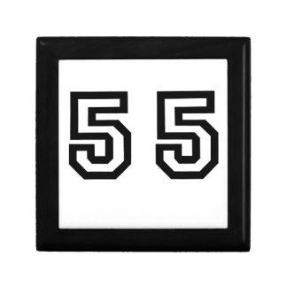Number Fifty Five Keepsake Box