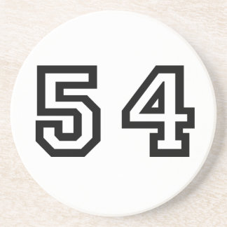 Number Fifty-Four Drink Coaster