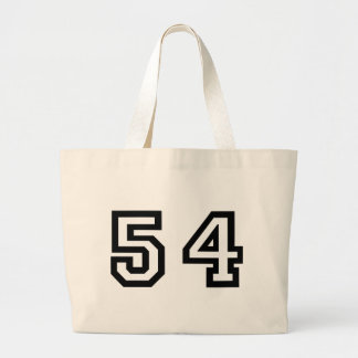 Number Fifty-Four Large Tote Bag