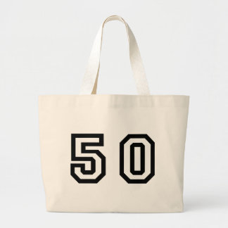 Number Fifty Large Tote Bag