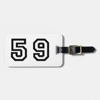 Number Fifty Nine Bag Tag