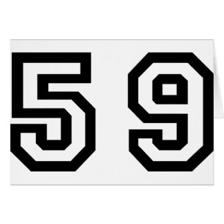 Number Fifty Nine Card