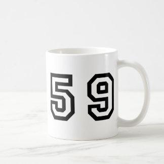 Number Fifty Nine Classic White Coffee Mug