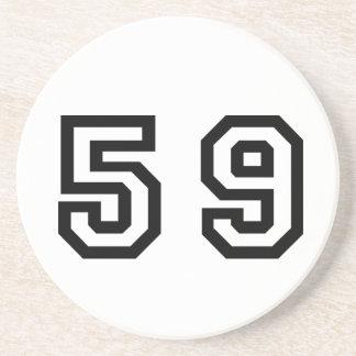 Number Fifty Nine Drink Coaster