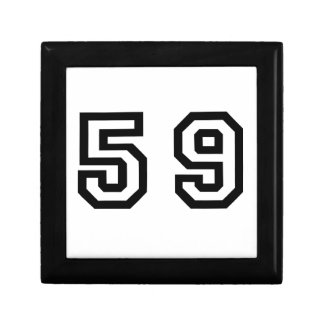 Number Fifty Nine Gift Box