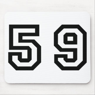 Number Fifty Nine Mouse Pad