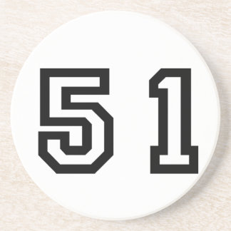 Number Fifty One Drink Coaster