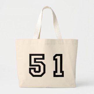 Number Fifty One Large Tote Bag