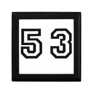 Number Fifty-Third Keepsake Box