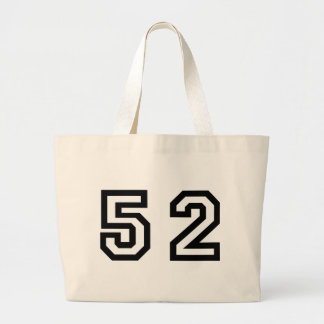 Number Fifty Two Large Tote Bag