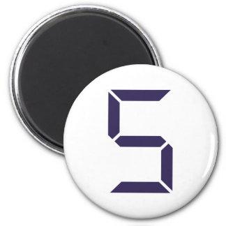 Number - Five - 5 Magnet