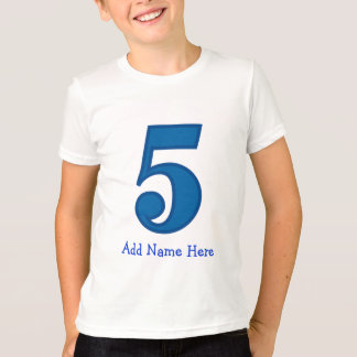 number five boy, Add Name Here T-Shirt