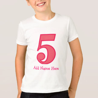 number five girl, Add Name Here T-Shirt