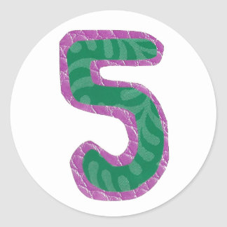 Number Five Stickers