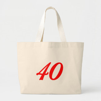 Number Forty 40th Birthday Gifts Tote Bags