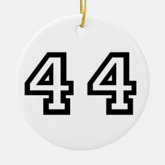 Number Forty Four Ceramic Ornament