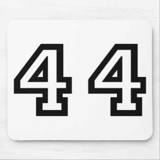 Number Forty Four Mouse Pad