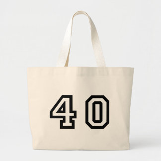 Number Forty Large Tote Bag