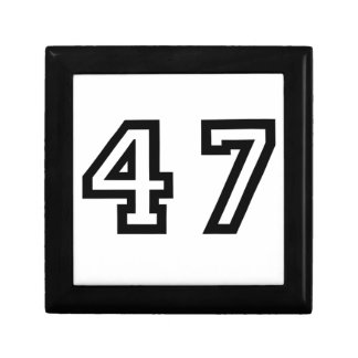Number Forty Seven Gift Box