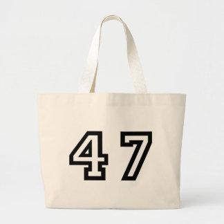 Number Forty Seven Large Tote Bag