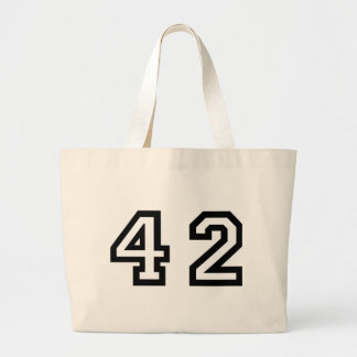 Number Forty Two Large Tote Bag