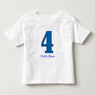 number four boy, Child's Name Toddler T-shirt