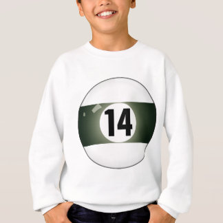 Number Fourteen Billiard Ball Sweatshirt