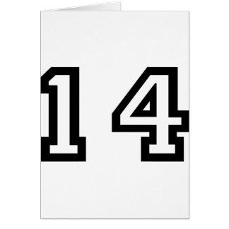 Number Fourteen Card