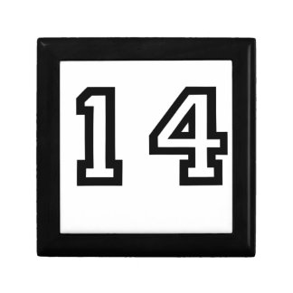 Number Fourteen Jewelry Box