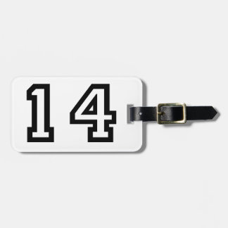 Number Fourteen Luggage Tag