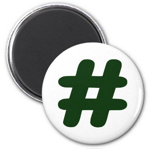 Number – Hash Fridge Magnet