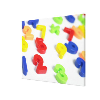 Number magnets canvas print