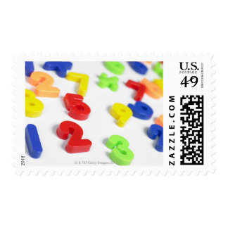 Number magnets postage stamps