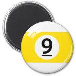 Number nine billiard ball fridge magnet