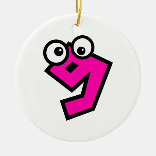 Number nine christmas tree ornaments zazzle for Number of ornaments for christmas tree